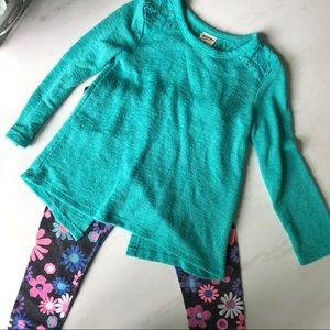 2T shirt and legging set
